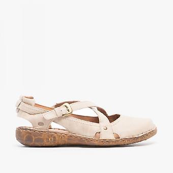 Josef Seibel Rosalie 13 Ladies Leather Casual Shoes Creme