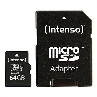 Micro SD Memory Card with Adaptor INTENSO 34234 UHS-I XC Premium Black/128 GB
