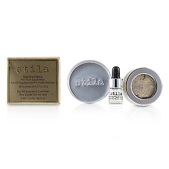 Magnificent Metals Foil Finish Eye Shadow With Mini Stay All Day Liquid Eye Primer - Metallic Pixie Dust 2pcs