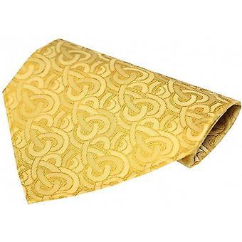 David Van Hagen Link Pattern Silk Handkerchief - Gold