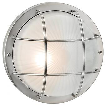 Firstlight Marina Vintage Stainless Steel Outdoor Open Cage Wall Light