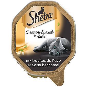 Sheba Tarrina Creationi Speziali en Salsa con Trocitos de Pavo para Gatos