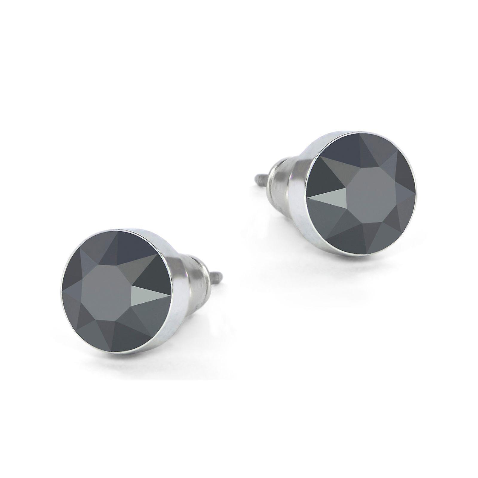 Jet Hematite Swarovski earrings EMB8.10