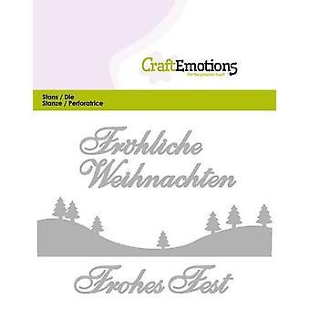 CraftEmotions Die Text - Fröhliche Weihnachten (DE) Card 11x9cm