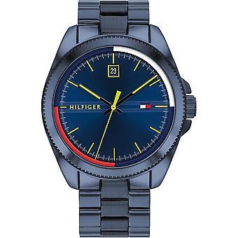 Tommy Hilfiger 1791689 Mens Blue IP Bracelet Wristwatch
