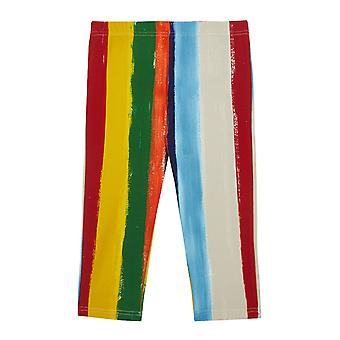 Dolce & Gabbana Leggings In Stretch Cotton With Striped Print.