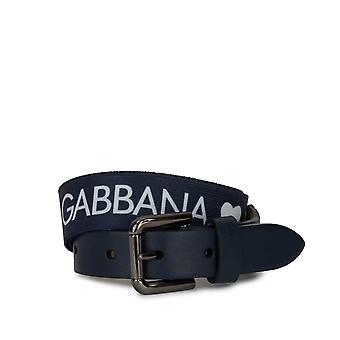 Dolce & Gabbana Belt In Two-Toned Stretch Calf Leather