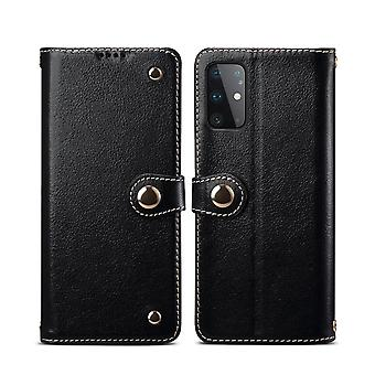For Samsung Galaxy S20 Ultra Case Genuine Leather Luxury Wallet Case Black