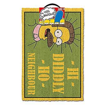 Simpsons Hi Diddly Ho Nabo Dørmåtte