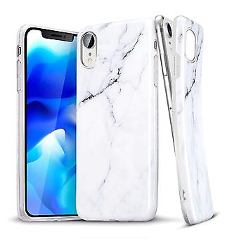 ESR Backcover Hoesje Marble iPhone XR - Wit