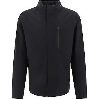 Moose Knuckles M10mj115292 Men's Black Polyester Outerwear Jacket