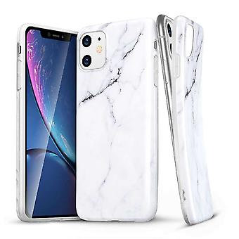 ESR Marble Backcover Hoesje iPhone 11 - Wit