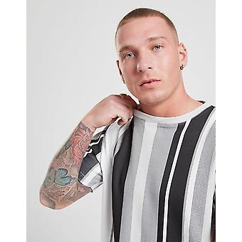 New STATUS Men's Remmy Stripe T-Shirt Grey