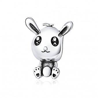 Sterling Silver Charm Easter Rabbit - 6517