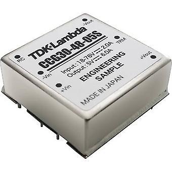 TDK-Lambda CCG-30-48-15D DC/DC -muunnin (tulostus) 30 V 1 A 30 W Ei. lähtöjen määrä: 1 x
