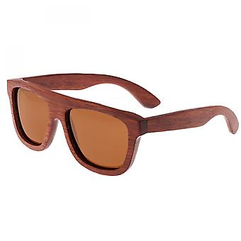 Earth Wood Imperial Polarized Sunglasses - Red Rosewood/Brown