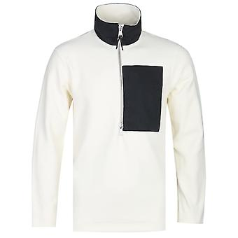 Albam Sport Fleece Bianco Felpa Mezza zip