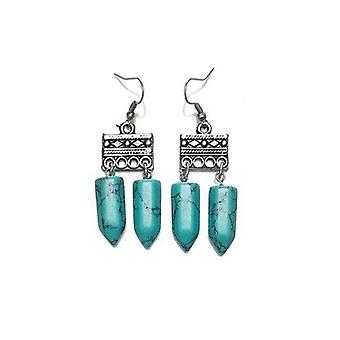 Lazurah Blanco Earrings - Turquoise