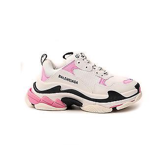 Balenciaga 524039w09om5691 Kvinder's Hvid/pink Polyester Sneakers