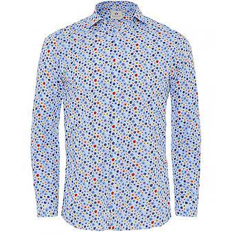 Altemflower bomull floral print skjorte