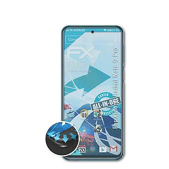 atFoliX 3x Écran protecteur compatible avec Xiaomi Redmi Note 9 Pro clair&flexible