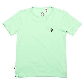Boy's Luke 1977 Junior Trouser Snake Crew T-Shirt in Green