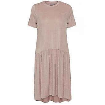 b.young Metallic Smock Dress