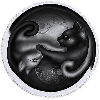 Yin ja Yang cats ranta pyyhe