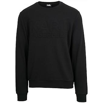 Lagerfeld Black Crew Neck Sweatshirt Lagerfeld Black Crew Neck Shirt Lagerfeld Black Crew Neck Shirt Lagerfeld Black Crew Neck