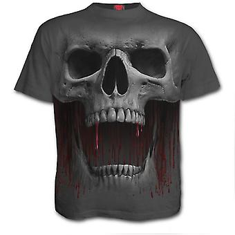 Spiraal-Death Roar-mannen korte mouw t-shirt-grijs