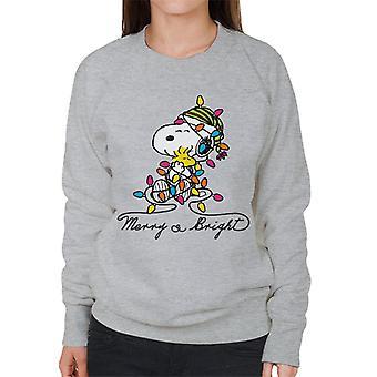 Erdnüsse Frohe und helle Snoopy Weihnachten Frauen's Sweatshirt
