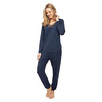 Cyberjammies Nora Rose Scarlett 1438 Women's Navy Blue Knit Pyjama Set