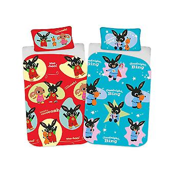 Bing Bunny Whoosh 4 in 1 Junior Bedding Bundle Set (Duvet, Pillow and