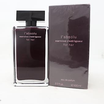 L'absolu For Her af Narciso Rodriguez Eau De Parfum 3.3oz Spray New With Box