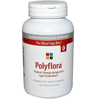 D'adamo, Polyflora, Probiotic Formula for Blood Type Diet O, 120 Veggie Caps