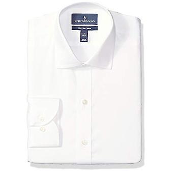 BUTTONED DOWN Men's Classic Fit Spread-Collar Micro Twill Non-Iron Dress Shir...