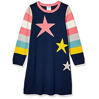 Brand - Spotted Zebra Toddler Girl's Swing Sweater Dresses, Multi Star...