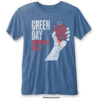Green Day Blue American Idiot Vintage Officielle Tee T-shirt Unisex