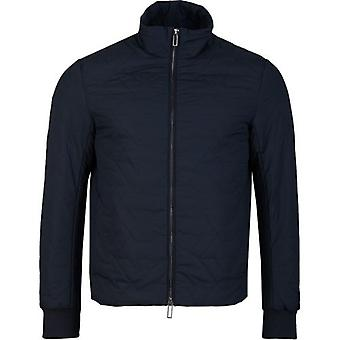 Armani Large Eagle Logo Quilted Jacket