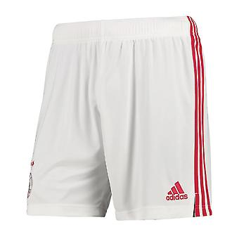 2020-2021 Ajax Adidas Home Shorts (White)