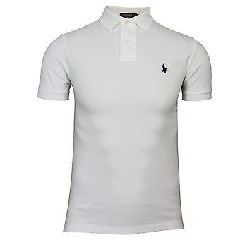 رالف لورين الرجال & s ضئيلة تناسب قميص البولو الأبيض