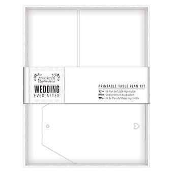 Papermania Wedding Printable Table Plan Kit