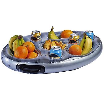 Inflatable Hot Tub Side Tray With 2 Carry Handles For Drinks And Snacks