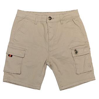 Boy's Luke 1977 Junior Club Future Cargo Shorts in Creme