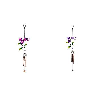 Something Different Purple Flower Chime