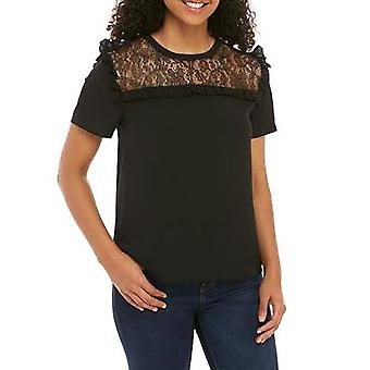 French Connection | Inset Lace Woven Top