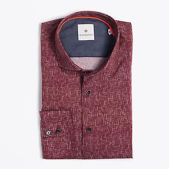 Blue Industry  - Weave Print Shirt - Red