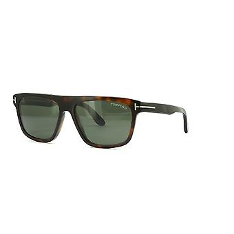 Tom Ford Cecilio-02 TF628 52N Dark Havana/Lunettes de soleil vertes