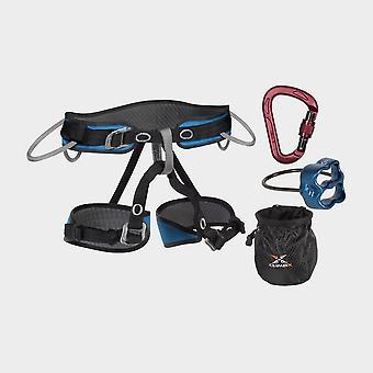 New Climb X Pilot Harness and Belay Set Black
