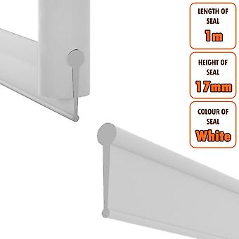 ECOSPA 3m Replacement Rubber Seal - Folding Bath Shower Enclosure Doors - White
